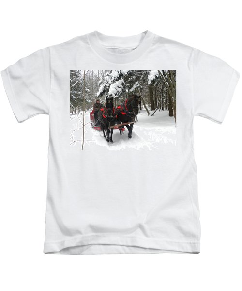 A Wonderful Day For A Sleigh Ride Kids T-Shirt