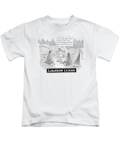 A Young Man Shares A Scary Story With His Two Kids T-Shirt
