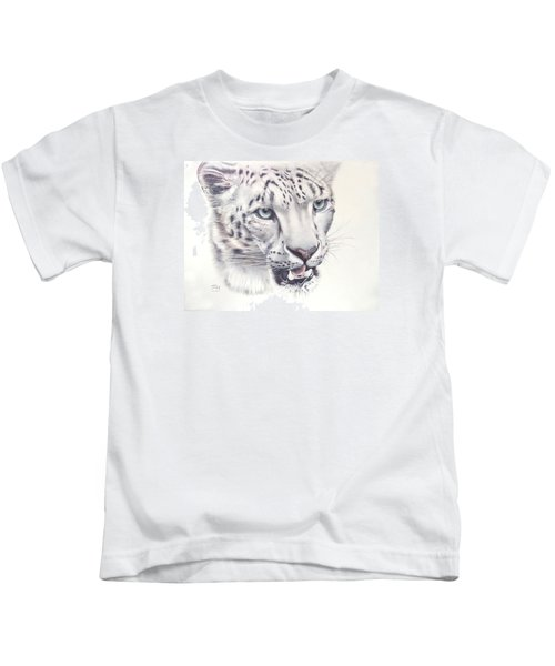 Above The Clouds - Snow Leopard Kids T-Shirt