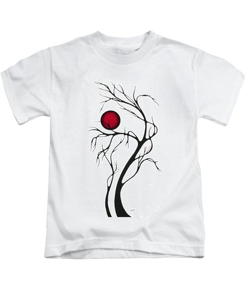 Abstract Art Original Huge Landscape Painting Together As One By Madart Kids T-Shirt