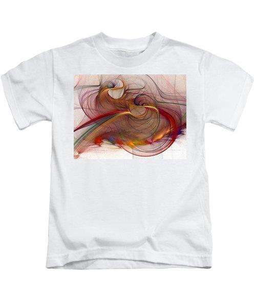 Abstract Art Print Inflammable Matter Kids T-Shirt