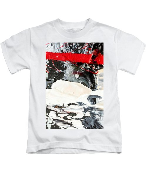 Abstract Original Painting Number Three Kids T-Shirt