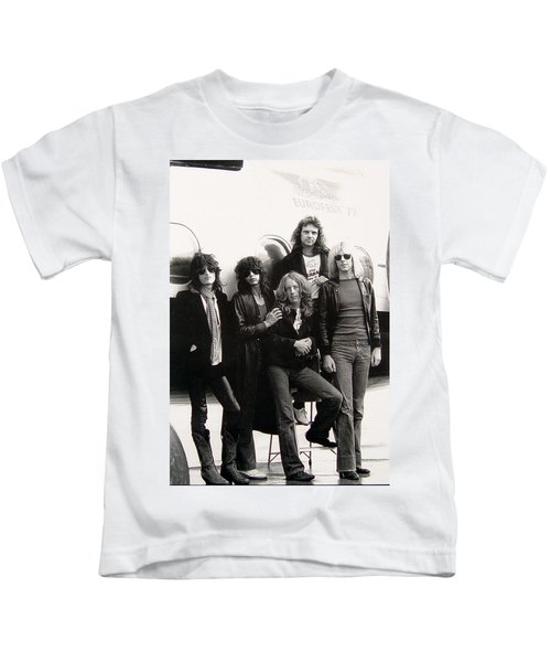 Aerosmith - Eurofest Jet 1977 Kids T-Shirt by Epic Rights