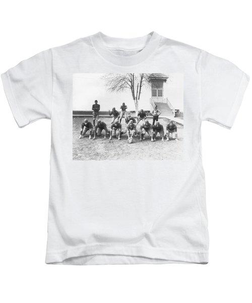 African American Football Team Kids T-Shirt