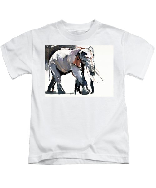 African Elephant, 2012, Mixed Media On Paper Kids T-Shirt