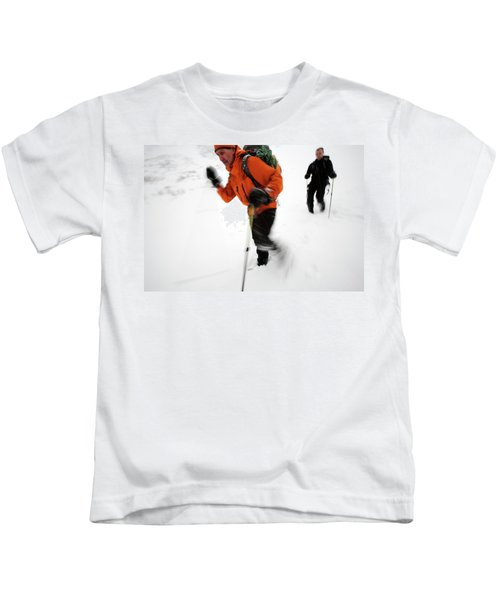 After An Afternoon Of Ice Climbing, Two Kids T-Shirt