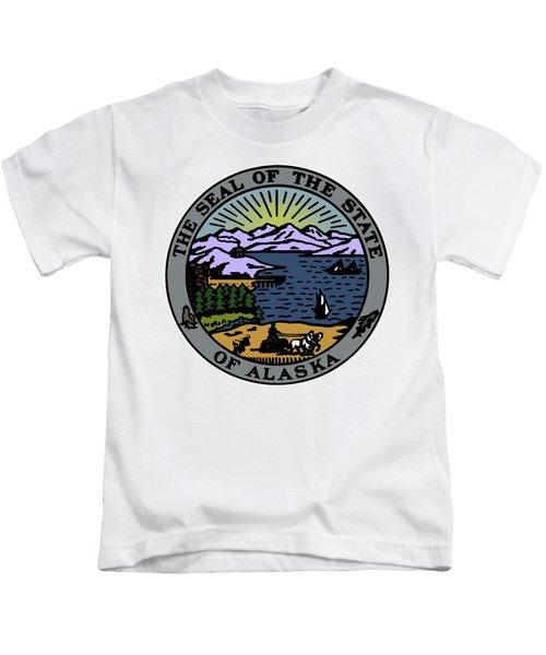 Alaska State Seal Kids T-Shirt