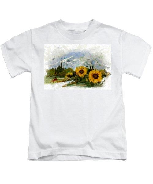 Alberta Landscape 1b Kids T-Shirt