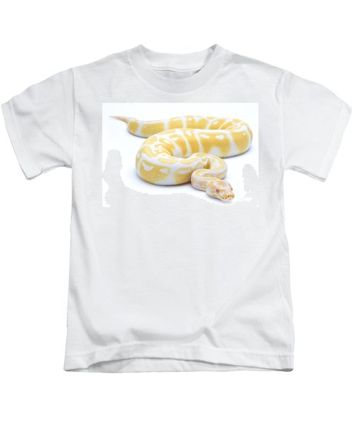 Albino Royal Python Kids T-Shirt by Michel Gunther