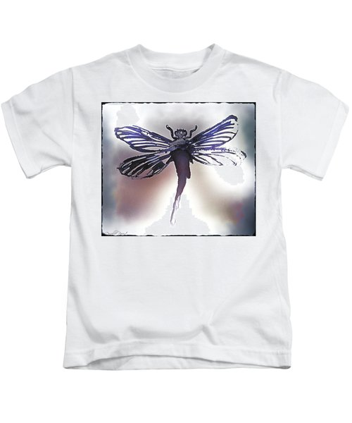 Alcohol Inks Purple Dragonfly Kids T-Shirt