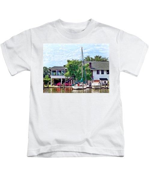 Alexandria Va - Docked Boats Kids T-Shirt