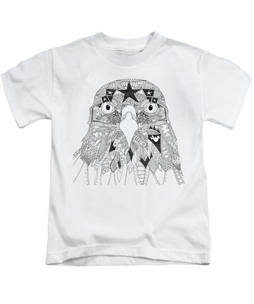 Amarican Eagle Black White Kids T-Shirt