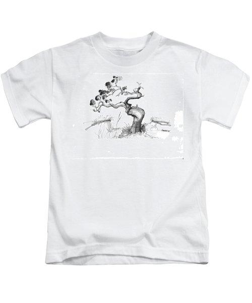 Ancient Loblolly Pine Ocracoke Nc 1970s Kids T-Shirt