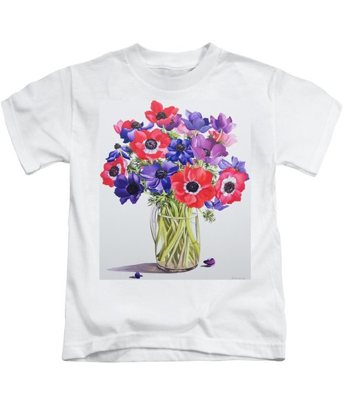 Anemones In A Glass Jug Kids T-Shirt