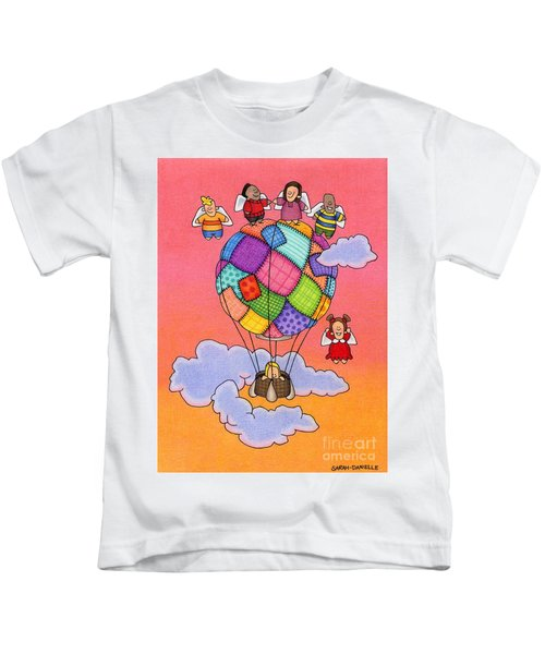 Angels With Hot Air Balloon Kids T-Shirt