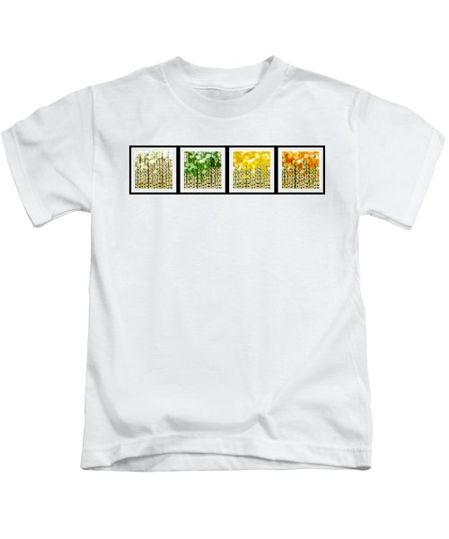 Aspen Colorado Abstract Horizontal 4 In 1 Collection Kids T-Shirt