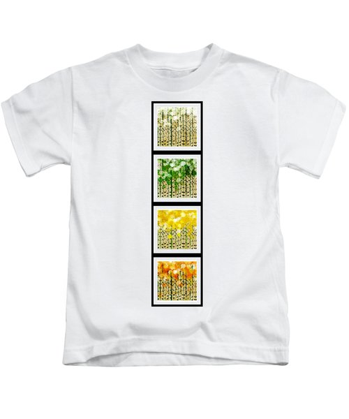 Aspen Colorado Abstract Vertical 4 In 1 Collection Kids T-Shirt