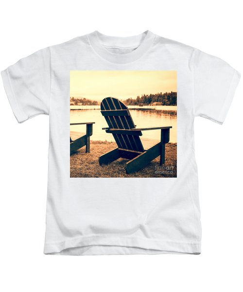 At The Lake Square Format Kids T-Shirt
