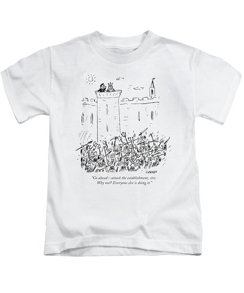 Attack The Establishment Sire Kids T-Shirt