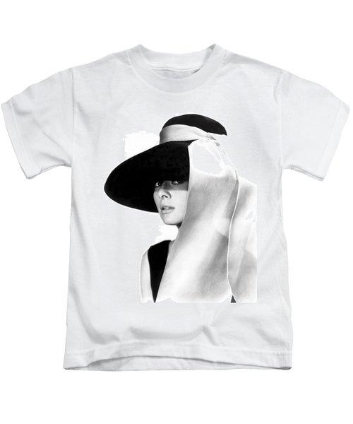 Audrey Hepburn Kids T-Shirt by Daniel Hagerman