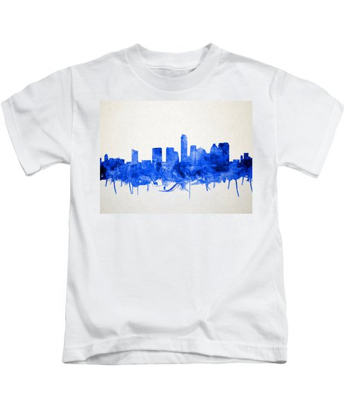 Austin Texas Skyline Watercolor 5 Kids T-Shirt