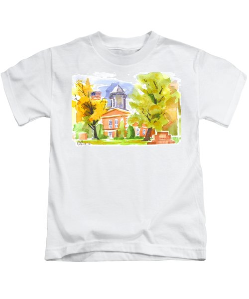 Autumn At The Courthouse Kids T-Shirt