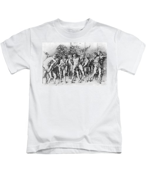 Bacchanal With Silenus - Albrecht Durer Kids T-Shirt by Daniel Hagerman