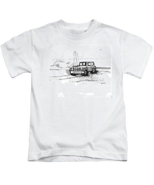Beach Buggy Ocracoke 1970s Kids T-Shirt