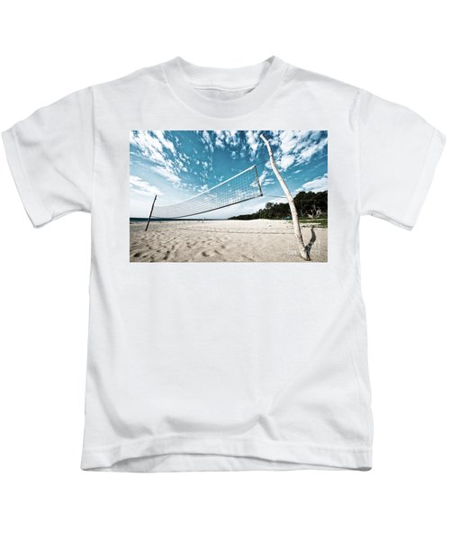 Beach Volleyball Net Kids T-Shirt
