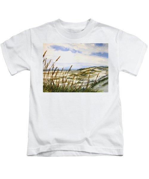 Beach Watercolor 3-19-12 Julianne Felton Kids T-Shirt