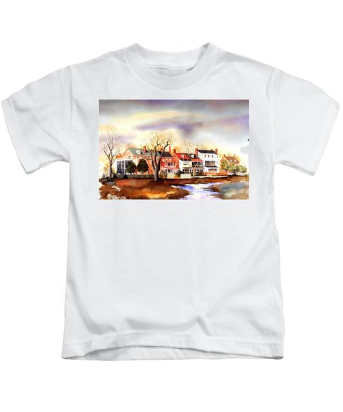 Behind The Strand In New Castle Kids T-Shirt