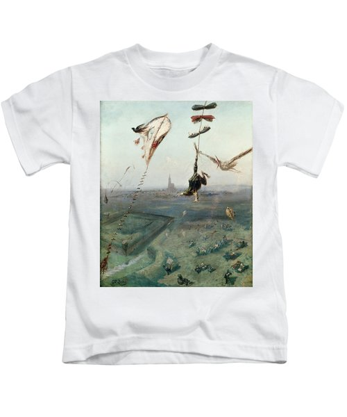 Between Heaven And Earth, 1862 Oil On Canvas Kids T-Shirt