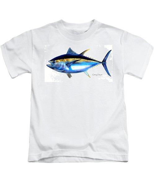 Big Eye Tuna Kids T-Shirt by Carey Chen