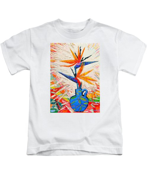 Bird Of Paradise Flowers Kids T-Shirt
