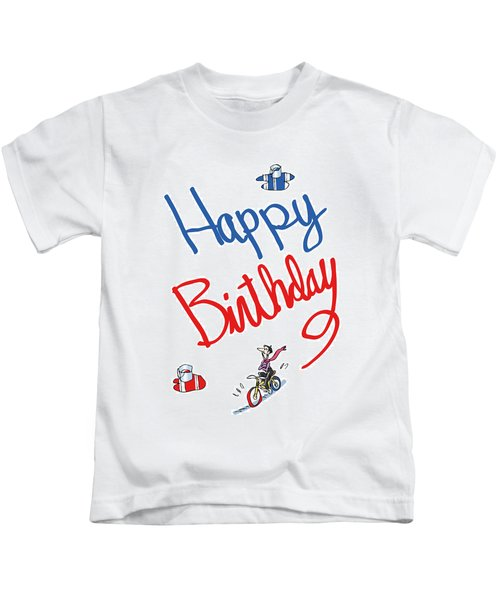 Birthday Bicycle Painter Kids T-Shirt