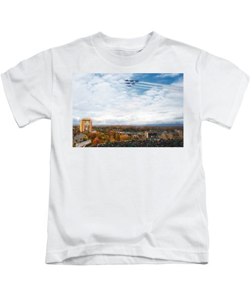 Notre dame football kids t shirts fine art america for Notre dame youth t shirts