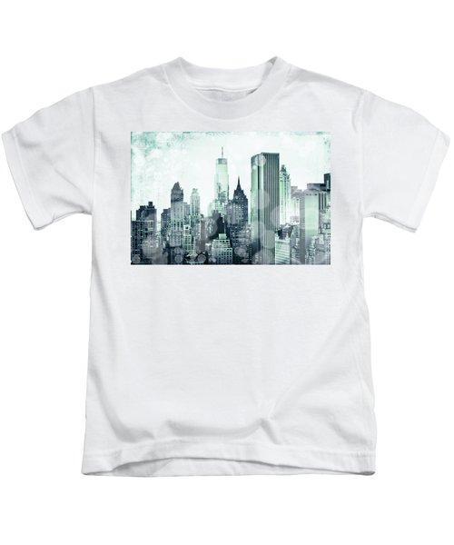 Blue City Beams Kids T-Shirt