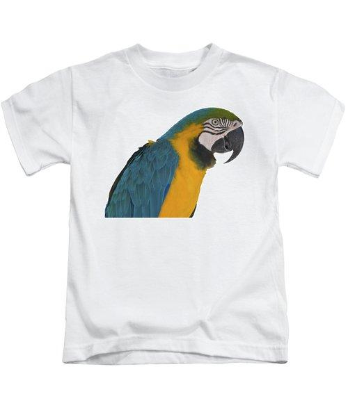 Blue Gold Macaw Kids T-Shirt