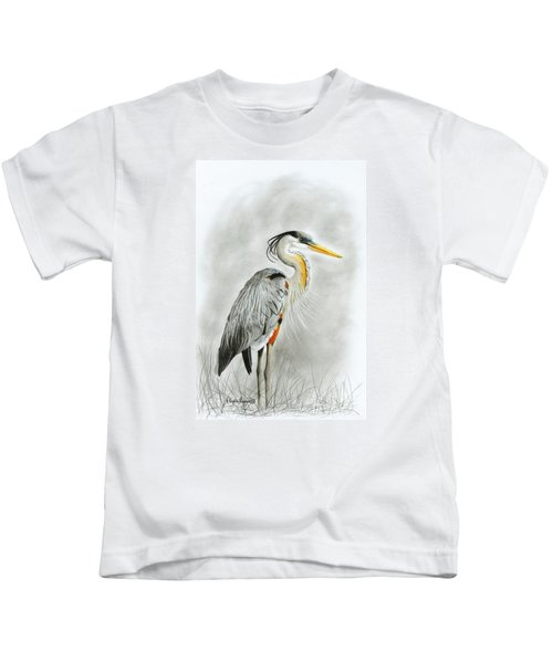 Blue Heron 3 Kids T-Shirt