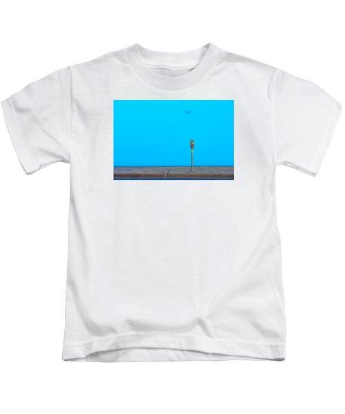 Blue Wall Parking Kids T-Shirt