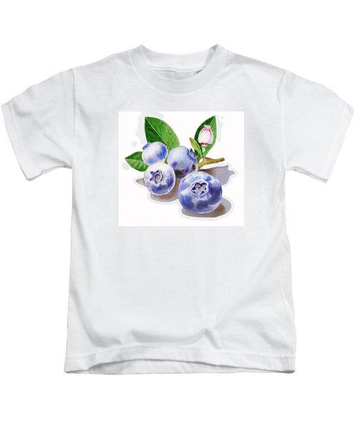Artz Vitamins The Blueberries Kids T-Shirt by Irina Sztukowski