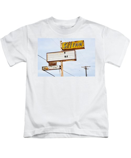 Bombay Beach Abandoned Ski Inn Kids T-Shirt