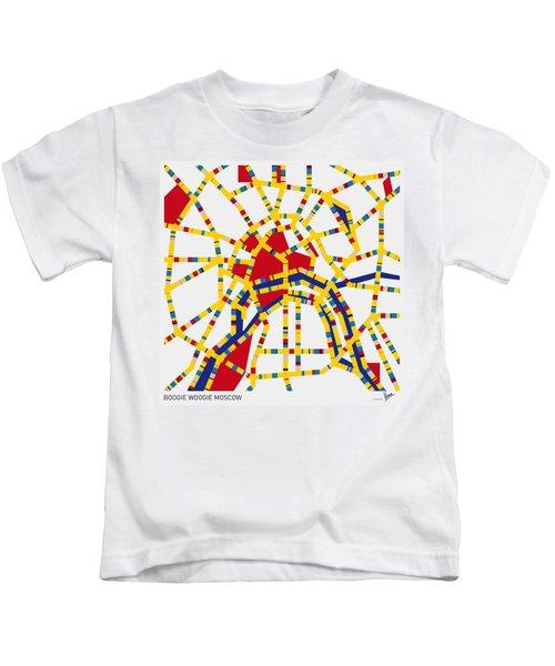 Boogie Woogie Moscow Kids T-Shirt by Chungkong Art