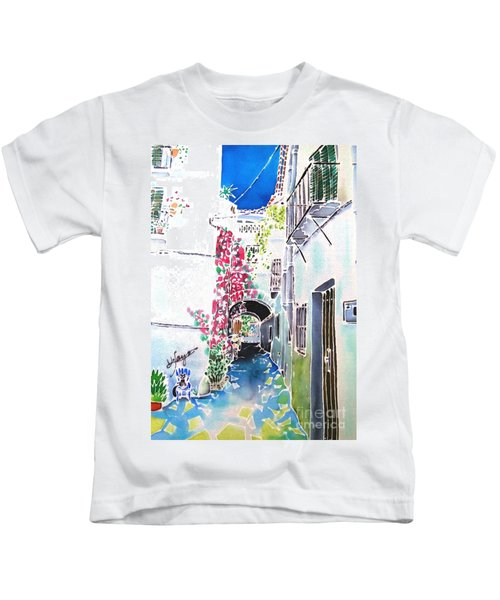 Bougainvillea Path  Kids T-Shirt
