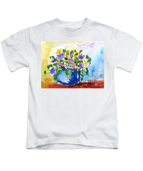 Bouquet Of Flowers In A Vase Kids T-Shirt