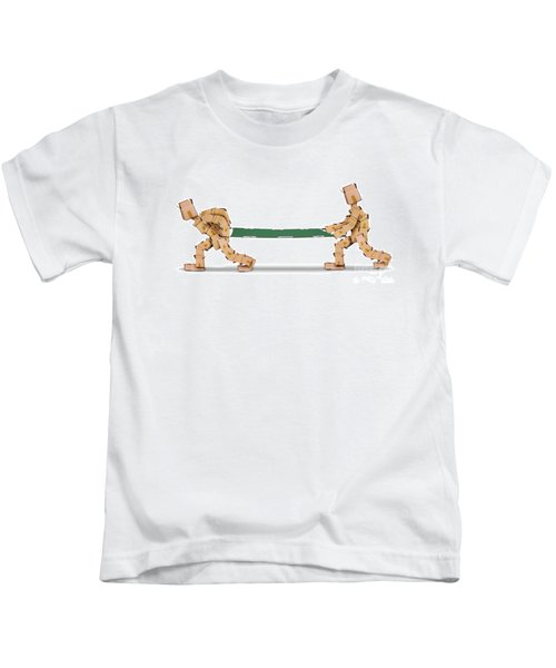 Box Characters Carrying A Stretcher Isolated Kids T-Shirt