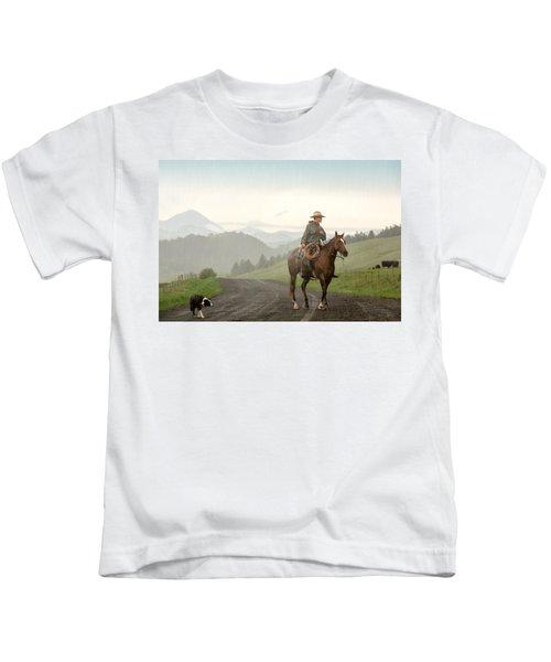 Braving The Rain Kids T-Shirt