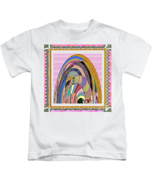Bride In Layers Of Veils Accidental Discovery From Graphic Abstracts Made From Crystal Healing Stone Kids T-Shirt