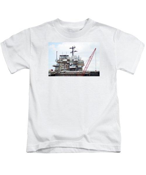 Uss Forrestal Bridge Kids T-Shirt