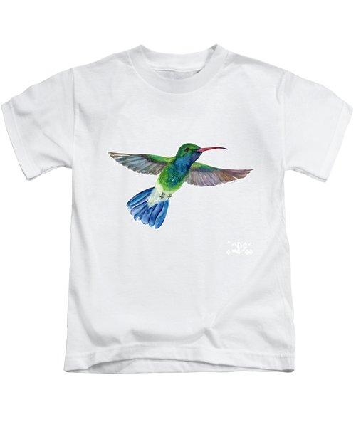 Broadbilled Fan Tail Hummingbird Kids T-Shirt